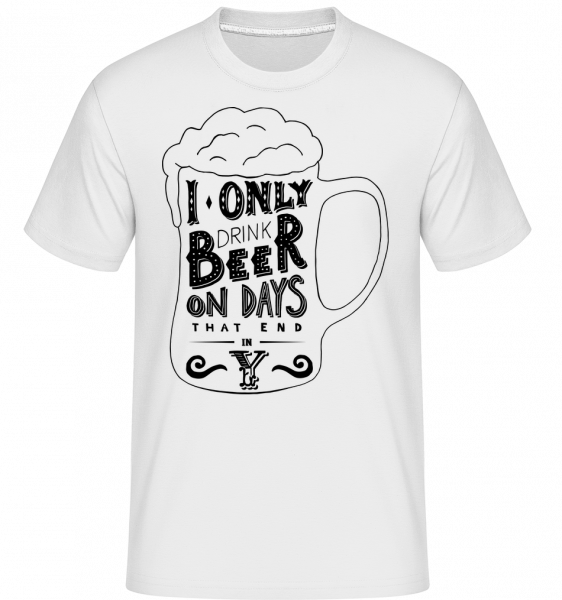 I Drink Beer - T-Shirt Shirtinator homme - Blanc - Vorn
