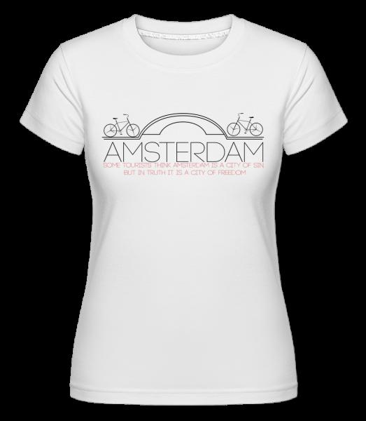Amsterdam Netherlands - T-shirt Shirtinator femme - Blanc - Vorn