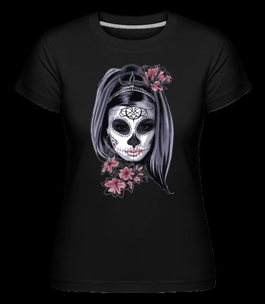 Masque De Fille Terrifiante - T-shirt Shirtinator femme - Noir - Vorn