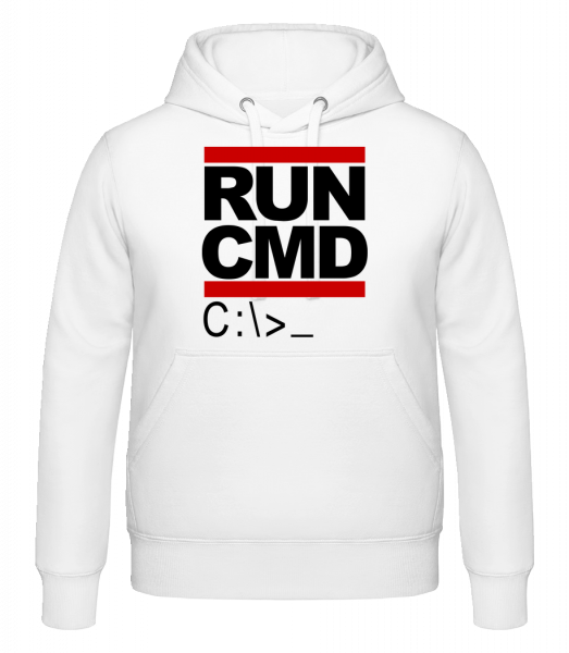 Run CMD - Sweat à capuche - Blanc - Vorn