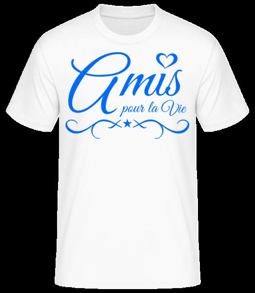 Amis Pour La Vie - T-shirt standard homme - Blanc - Vorn