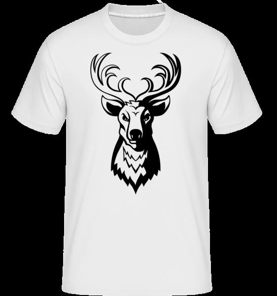 Cerf - T-Shirt Shirtinator homme - Blanc - Vorn