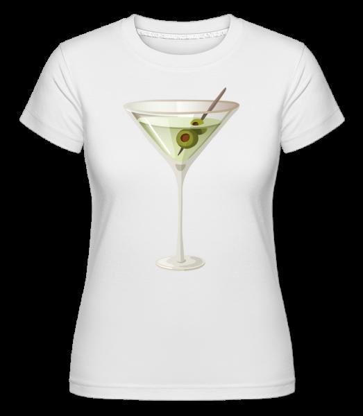 Cocktail - T-shirt Shirtinator femme - Blanc - Vorn