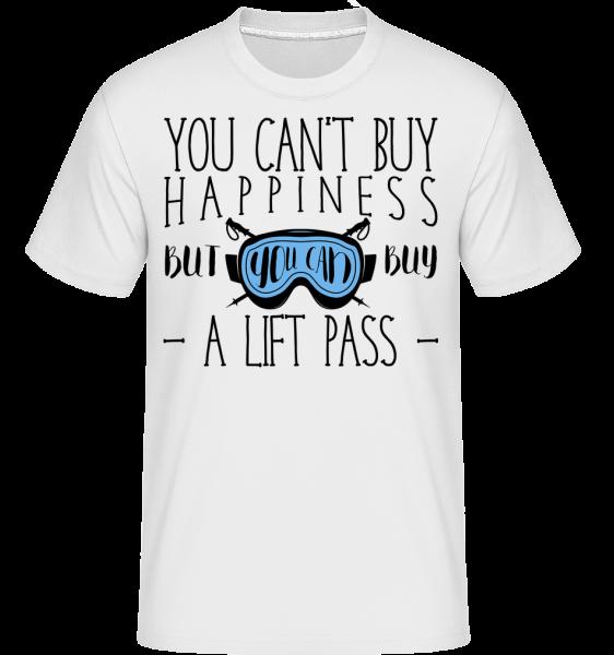 You Can Buy A Lift Pass - T-Shirt Shirtinator homme - Blanc - Vorn