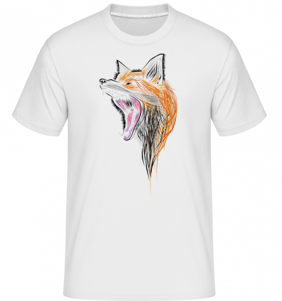 Renard Qui Hurle -  T-Shirt Shirtinator homme - Blanc - Vorn
