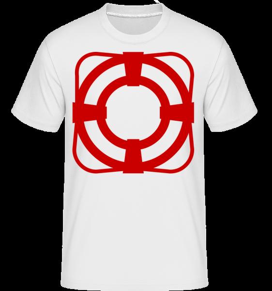 Ceinture De Sauvetage - T-Shirt Shirtinator homme - Blanc - Vorn