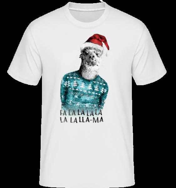 Lama De Noël - T-Shirt Shirtinator homme - Blanc - Vorn
