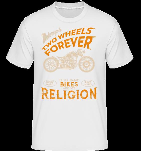 Bikes Are My Religion - T-Shirt Shirtinator homme - Blanc - Vorn