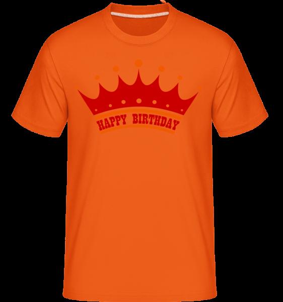 Happy Birthday Couronne - T-Shirt Shirtinator homme - Orange - Vorn