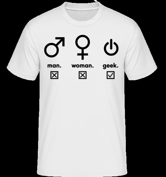Man Woman Geek Symbols - T-Shirt Shirtinator homme - Blanc - Vorn