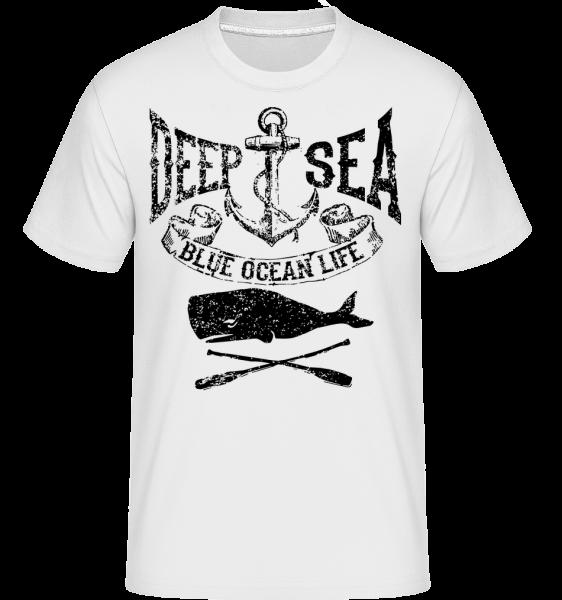 Deep Sea Ocean Icon - T-Shirt Shirtinator homme - Blanc - Vorn