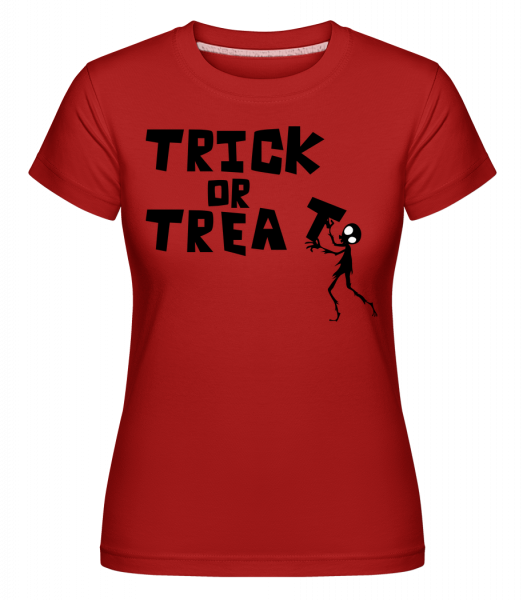 Trick Or Treat - T-shirt Shirtinator femme - Rouge - Vorn