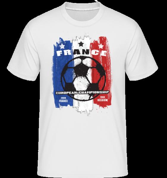 Football France - T-Shirt Shirtinator homme - Blanc - Vorn