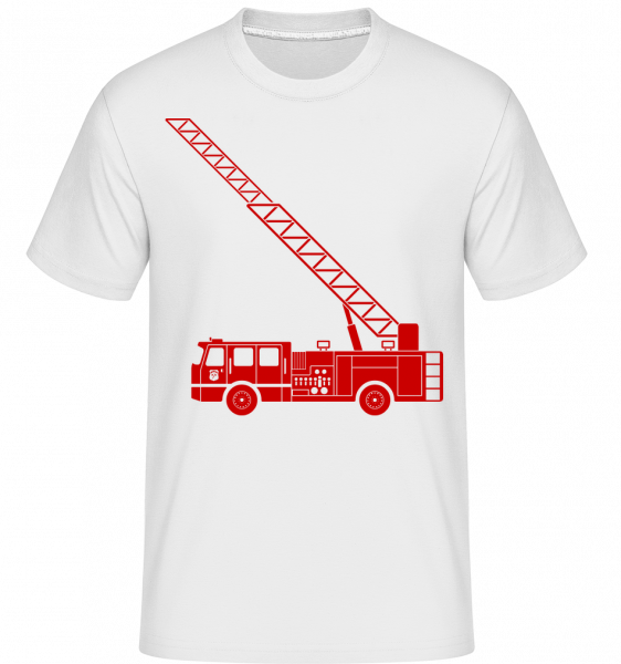 Fire Department Symbol Red - T-Shirt Shirtinator homme - Blanc - Vorn