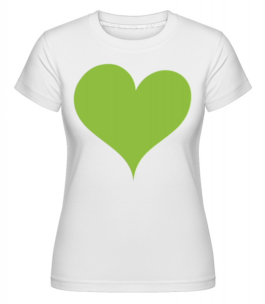Coeur Élégant - T-shirt Shirtinator femme - Blanc - Vorn