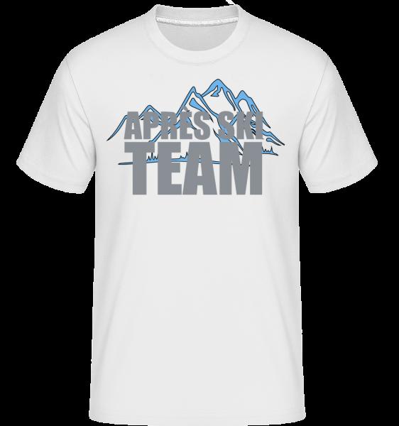 Team Après Ski - T-Shirt Shirtinator homme - Blanc - Vorn