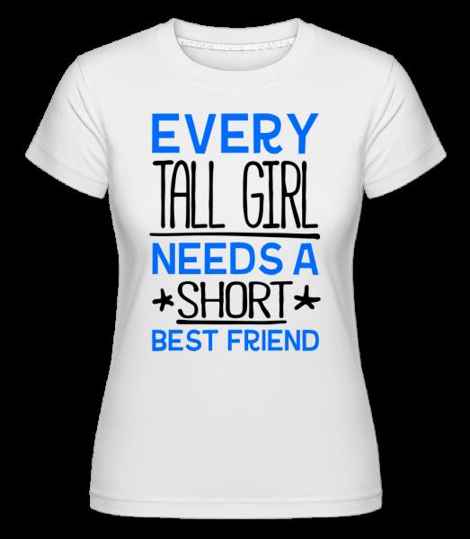 A Short Best Friend - T-shirt Shirtinator femme - Blanc - Vorn