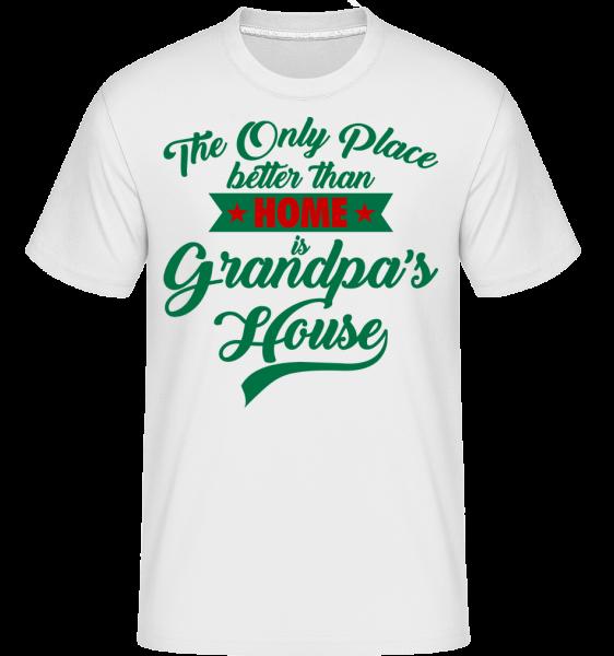 Grandpas House - T-Shirt Shirtinator homme - Blanc - Vorn