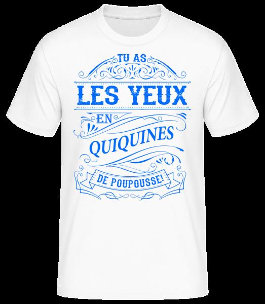 Les Yeux En Quiquines - T-shirt standard homme - Blanc - Vorn