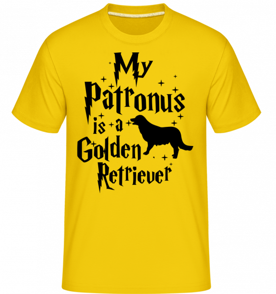 My Patronus Is A Golden Retrieve - T-Shirt Shirtinator homme - Jaune doré - Vorn