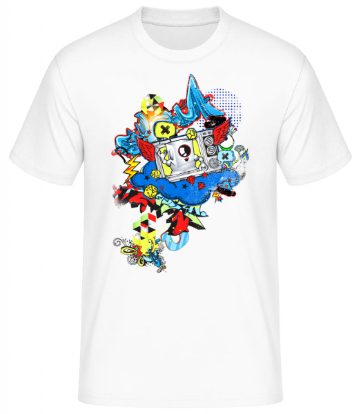 Graffiti Moderne - T-shirt standard homme - Blanc - Vorn