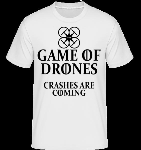 Game Of Drones - T-Shirt Shirtinator homme - Blanc - Vorn