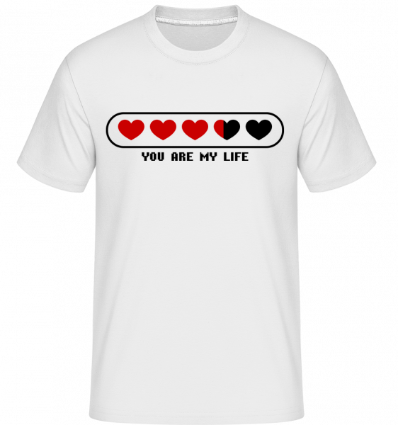 You Are My Life Hearts - T-Shirt Shirtinator homme - Blanc - Vorn