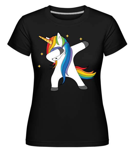 Party Einhorn - T-shirt Shirtinator femme - Noir - Vorn