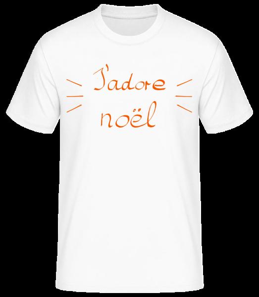 J'Adore Noël - T-shirt standard homme - Blanc - Vorn