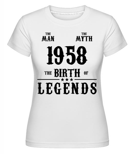 The Myth 1958 - T-shirt Shirtinator femme - Blanc - Vorn