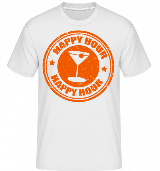 Happy Hour Cocktail - T-Shirt Shirtinator homme - Blanc - Vorn