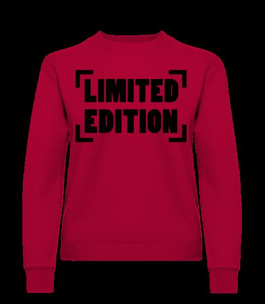 Limited Edition Logo - Sweat-shirt classique avec manches set-in pour femme - Rouge - Vorn