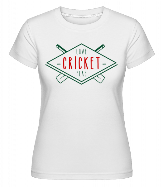 Love And Play Cricket - T-shirt Shirtinator femme - Blanc - Vorn
