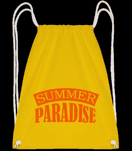 Summer Paradise Orange - Sac à dos Drawstring - Jaune - Vorn