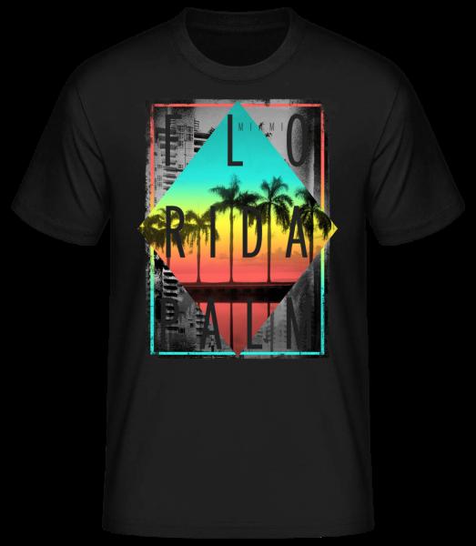 Florida Palm - T-shirt standard homme - Noir - Vorn