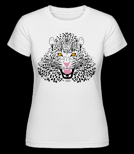 Léopard - T-shirt Shirtinator femme - Blanc - Vorn
