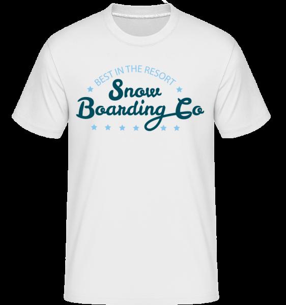Snowboarding Co. Sign - T-Shirt Shirtinator homme - Blanc - Vorn