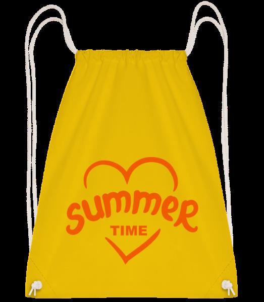 Summertime Heart - Sac à dos Drawstring - Jaune - Vorn