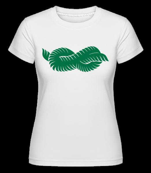 Plant Icon Green - T-shirt Shirtinator femme - Blanc - Vorn