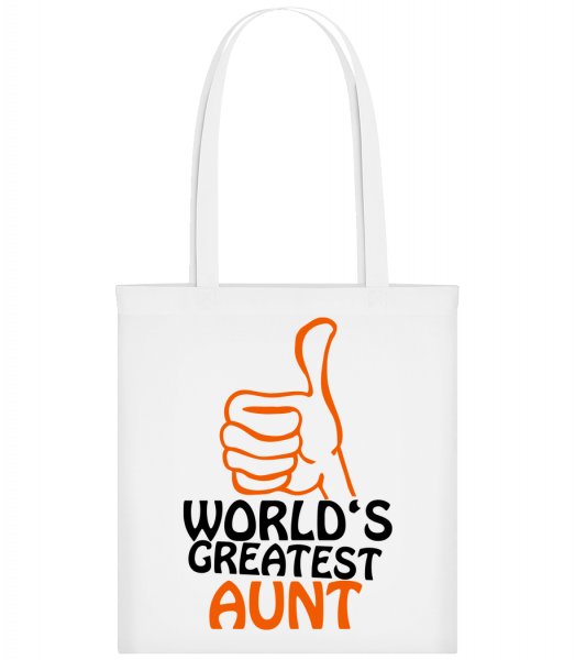 World's Greatest Aunt - Sac tote - Blanc - Vorn