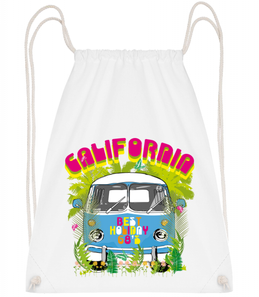 California Bus - Sac à dos Drawstring - Blanc - Vorn