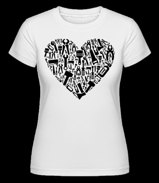 Love DIY Heart - T-shirt Shirtinator femme - Blanc - Vorn