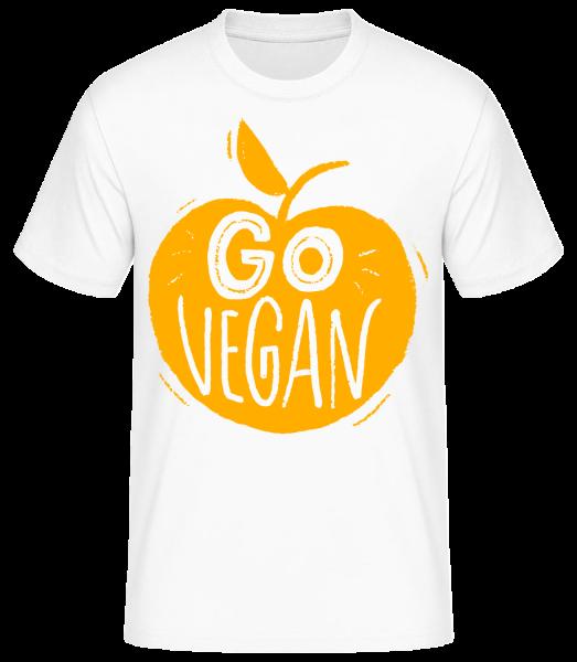 Go Vegan - T-shirt standard homme - Blanc - Vorn