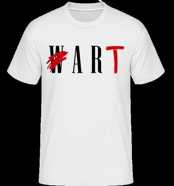 Art Not War -  T-Shirt Shirtinator homme - Blanc - Vorn