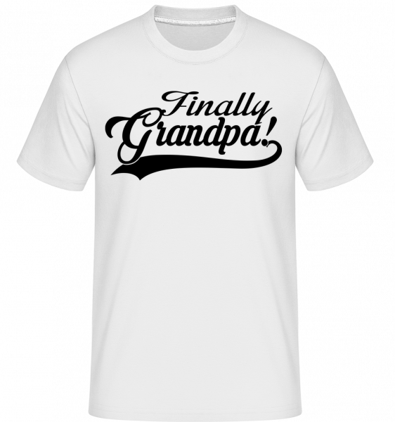 Finally Grandpa - T-Shirt Shirtinator homme - Blanc - Vorn