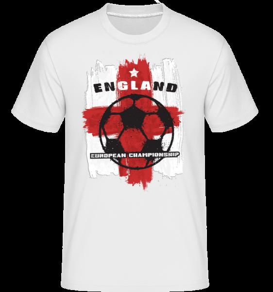 Football Angleterre - T-Shirt Shirtinator homme - Blanc - Vorn