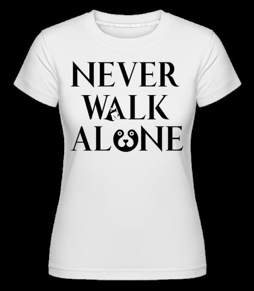 Never Walk Alone - T-shirt Shirtinator femme - Blanc - Vorn