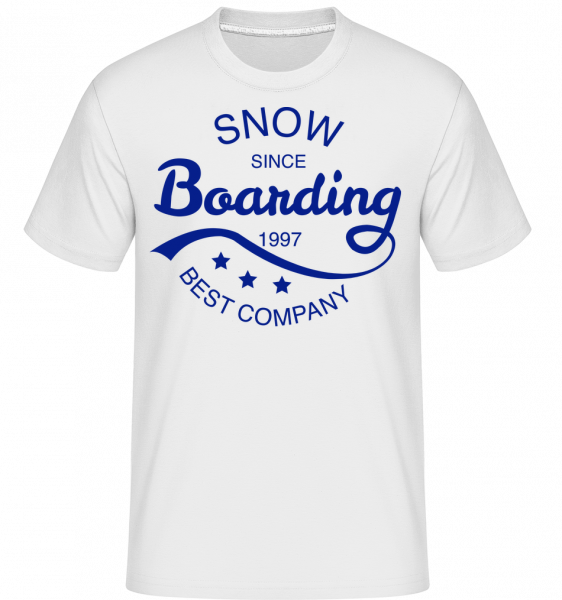 Snowboarding Since 1997 Logo - T-Shirt Shirtinator homme - Blanc - Vorn