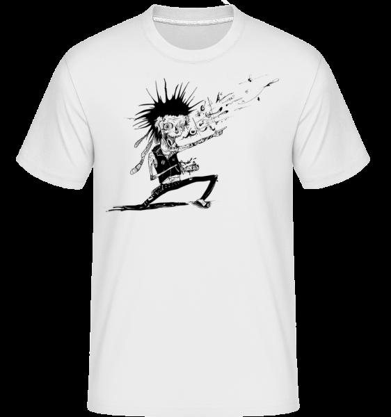 Zombie Fait De La Musique - T-Shirt Shirtinator homme - Blanc - Vorn