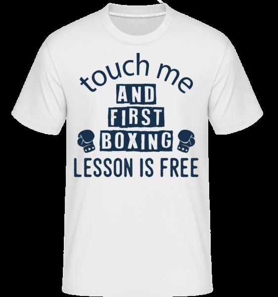 Free Boxing Lessons - T-Shirt Shirtinator homme - Blanc - Vorn